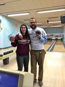 Support & Administrative Coordinators Sam & Shane. Bowling Social, January 2014