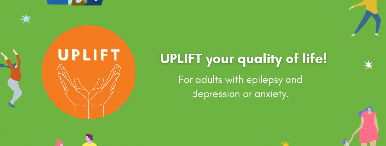 UPLIFT graphic - for adults with epilepsy and depression or anxiety