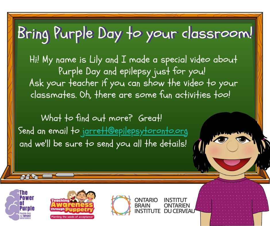 Bring Purple Day to your Classroom